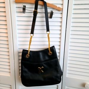 Paloma Picasso black purse with gold chain